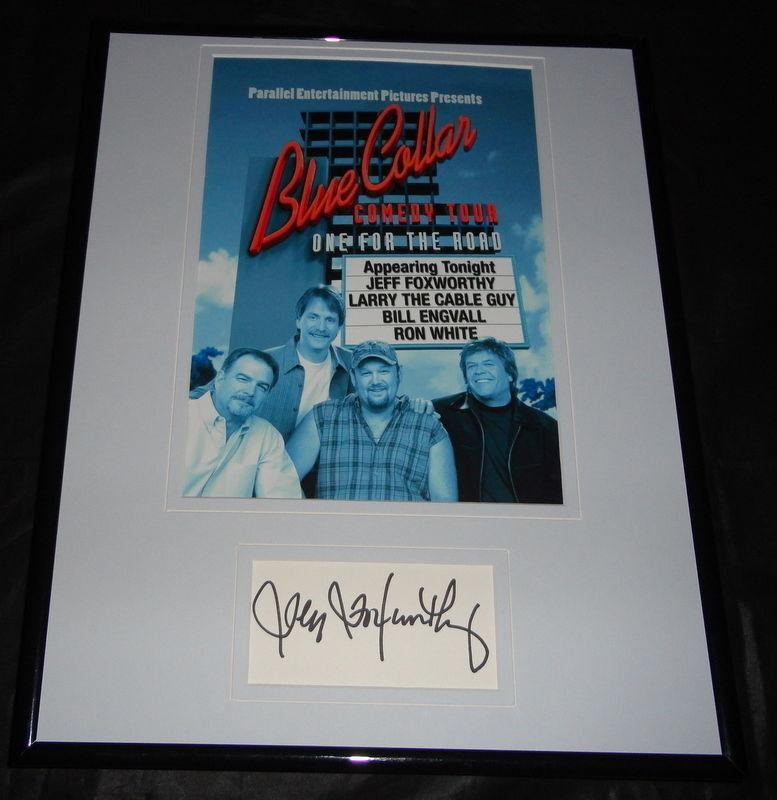 Jeff Foxworthy Signed Framed 11x14 Photo Display JSA Blue Collar Comedy