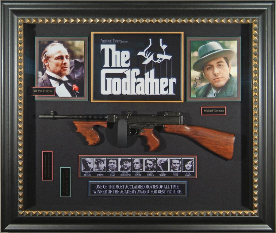 Godfather Al Pacino Autographed Poster Framed Display