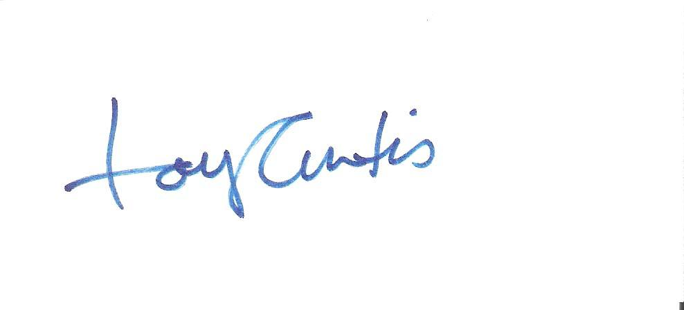 Signed Tony Curtis Photograph - MOVIE TV ACTOR Over 100 FILMS Passed away 2010 5x2 Index Cards