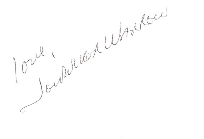 Warren Autographed Photograph - JENNIFER MOVIE ACTRESS 5x3 Index Card