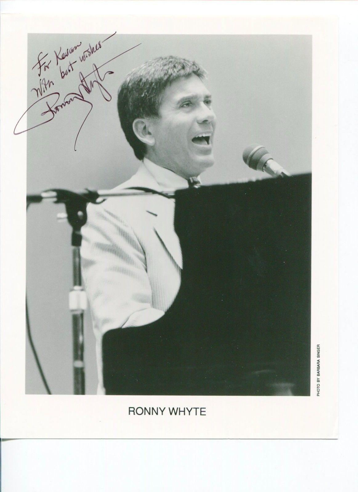 Ronny Whyte Jazz Pianist Singer Composer Signed Autograph Photo