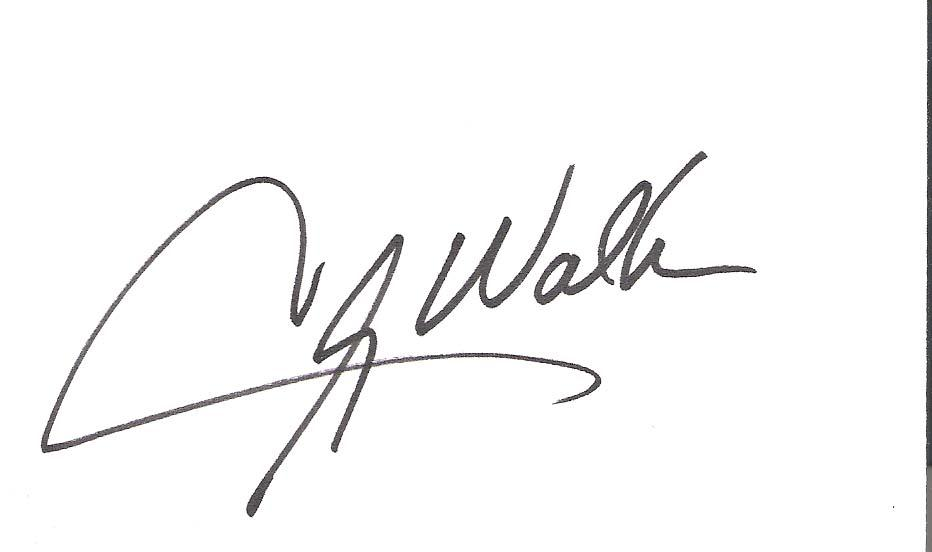 "CLAY WALKER (COUNTRY MUSIC SINGER) Hits Include ""RUMOR HAS IT"" & SHE WON'T BE LONELY LONG"" Signed 5x3 Index Card"