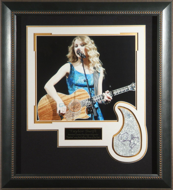 Taylor Swift Autographed Framed Concert Display