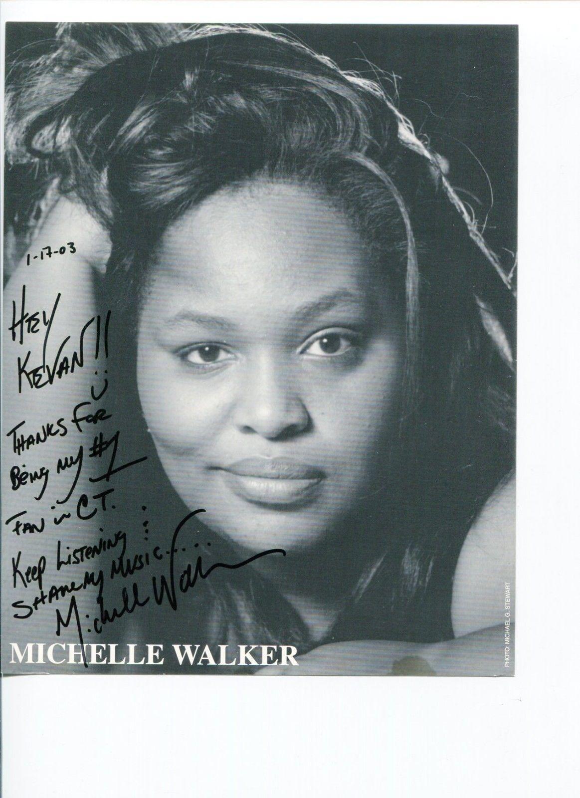 Michelle Walker Jazz Singer Songwriter Signed Autograph Photo
