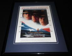 A Few Good Men 1992 Framed 11x14 ORIGINAL Vintage Advertisement Tom Cruise