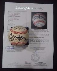A League Of Its Own Movie Multi Signed Baseball Charlie Sheen ++ Jsa Loa #y52117