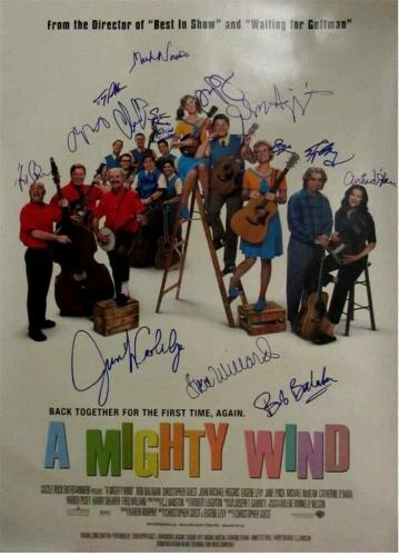 A Mighty Wind Cast by 17 Autographed Signed Poster Certified PSA/DNA COA