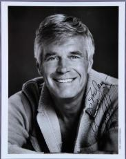 A Team – George Peppard Signed, Inscribed 8×10 Photo – COA
