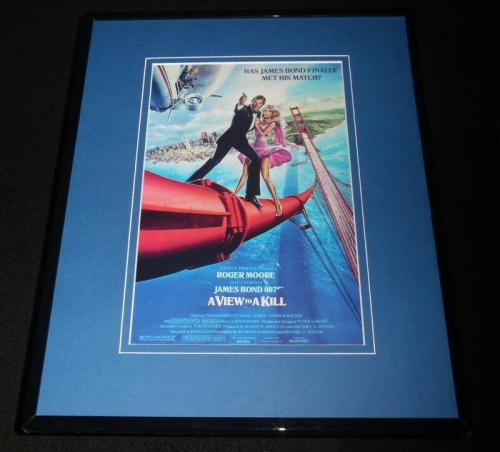 A View to a Kill Framed 11x14 Repro Movie Poster Display Roger Moore Grace Jones