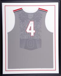 Aaron Craft Ohio State Buckeys Autographed Deluxe Framed Replica Red Jersey