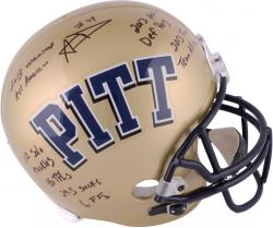 Aaron Donald Pittsburgh Panthers Riddell Autographed Full Size Replica Helmet with Career Stats Inscription