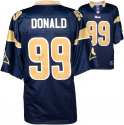 Aaron Donald St. Louis Rams Autographed Nike Replica Navy Blue Jersey