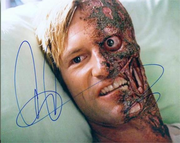 Aaron Eckhart autographed 8x10 photo (Harvey Dent Batman Two Face Dark Knight) Image #SC3
