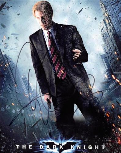 Aaron Eckhart autographed 8x10 photo (Harvey Dent Batman Two Face Dark Knight) Image #SC5