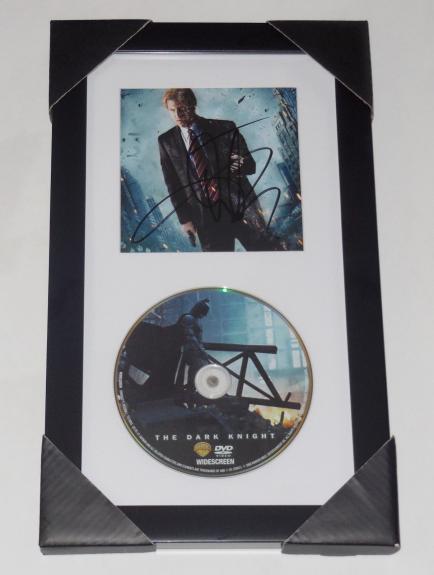 Aaron Eckhart Autographed The Dark Knight Dvd Display (framed & Matted) - Batman
