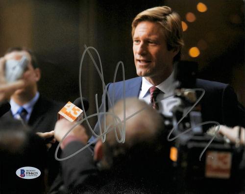 Aaron Eckhart Batman The Dark Knight Signed 8x10 Photo BAS #F84625