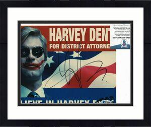 AARON ECKHART signed (BATMAN THE DARK KNIGHT) 8X10 photo BECKETT BAS Y75082