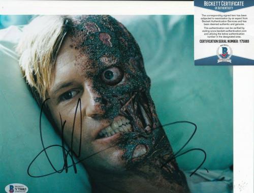 AARON ECKHART signed (BATMAN THE DARK KNIGHT) 8X10 photo BECKETT BAS Y75083