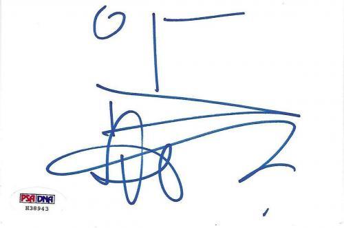 Aaron Eckhart Signed 4x6 Index Card PSA/DNA COA Batman Two-Face Sketch Autograph