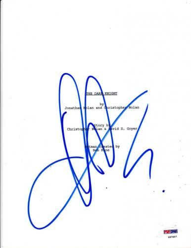 Aaron Eckhart Signed The Dark Knight Script Complete 167 Page Batman Psa