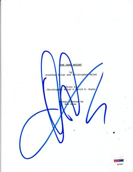 Aaron Eckhart Signed The Dark Knight Script Complete 167 Page Batman Psa