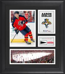 """Aaron Ekblad Florida Panthers Framed 15"""" x 17"""" Collage with Piece of Game-Used Puck"""