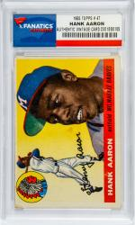Hank Aaron Atlanta Braves 1955 Topps #47 Card - Mounted Memories