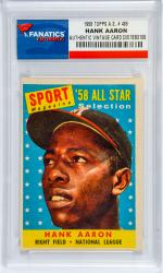 Hank Aaron Atlanta Braves 1958 Topps All-Star #488 Card - Mounted Memories