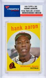 Hank Aaron Milwaukee Braves 1959 Topps #380 Card 1