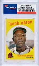 Hank Aaron Milwaukee Braves 1959 Topps #380 Card 2