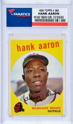 Hank Aaron Milwaukee Braves 1959 Topps #380 Card 3