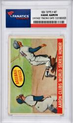 Hank Aaron Milwaukee Braves 1959 Topps #467 Card - Mounted Memories