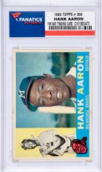 Hank Aaron Milwaukee Braves 1960 Topps #300 Card