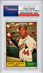 Hank Aaron Milwaukee Braves 1961 Topps #415 Card - Mounted Memories