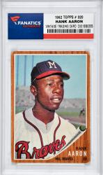 Hank Aaron Milwaukee Braves 1962 Topps #320 Card - Mounted Memories
