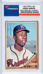 Hank Aaron Milwaukee Braves 1962 Topps #320 Card 1