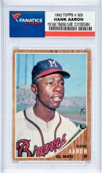 AARON, HANK (1962 TOPPS # 320) CARD - Mounted Memories
