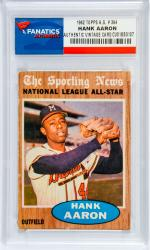 Hank Aaron Atlanta Braves 1962 Topps All-Star #394 Card - Mounted Memories