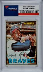 Hank Aaron Atlanta Braves 1967 Topps #250 Card - Mounted Memories