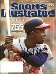 Hank Aaron Atlanta Braves Autographed 2007 Sports Illustrated Magazine - Mounted Memories