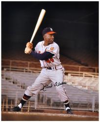 Hank Aaron Milwaukee Braves Autographed 16'' x 20'' Empty Stands Photograph - Mounted Memories