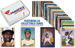 Hank Aaron Atlanta Braves Collectible Lot of 20 MLB Trading Cards - Mounted Memories