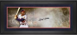 Hank Aaron Atlanta Braves Framed Autographed 10'' x 30'' Filmstrip Photograph - Mounted Memories