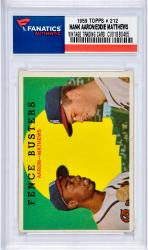 Hank Aaron & Eddie Mathews Milwaukee Braves 1959 Topps #212 Card