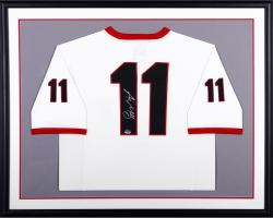 Aaron Murray University of Georgia Autogrpahed Standard Framed White Jersey
