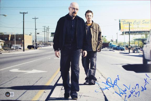 Aaron Paul Breaking Bad Signed 12x18 Photo Autographed BAS #BB22892