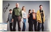 AARON PAUL & RJ MITTE Signed 11x17 Photo Breaking Bad Actors ~ Beckett BAS COA