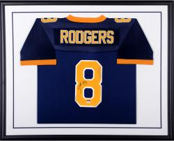 Aaron Rodgers California Golden Bears Autographed Standard Framed Navy Blue Nike Authentic Jersey