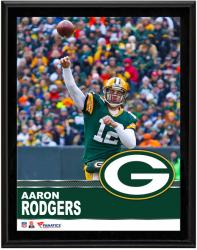 Aaron Rodgers Green Bay Packers Sublimated 10.5'' x 13'' Plaque - Mounted Memories