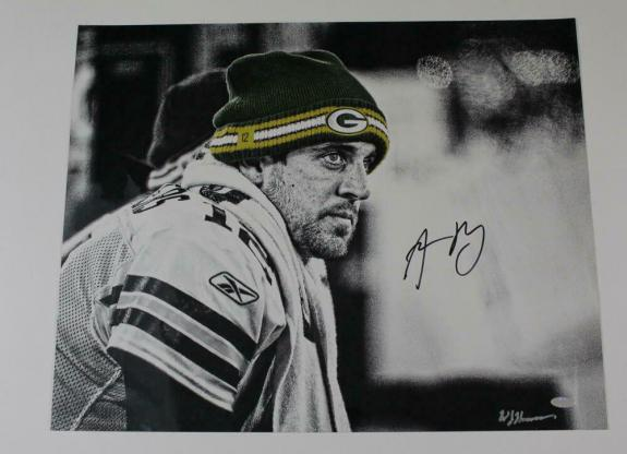 Aaron Rogers Signed Autograph 16x20 Photo - Green Bay Packers Future Hof Steiner